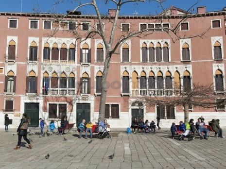 Campo San Polo (San Polo square), Venice, Veneto, Italy, Europe